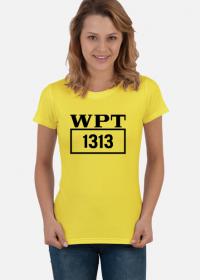 """Koszulka damska """"Zmiennicy - WPT 1313"""" żółta"""
