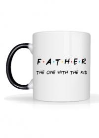 Kubek magiczny Father - the one with the kid prezent na Dzień Ojca