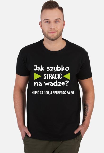 Koszulka męska, czarna - Jak szybko stracić na wadze?
