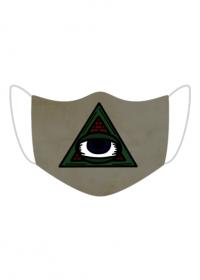 maseczka kolorowa ze wzorem illuminati