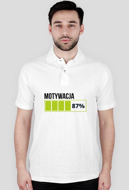Koszulka męska biała - Motywacja