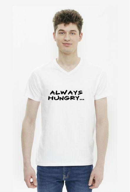 Koszulka męska biała - Always hungry