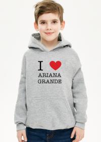 Ariana Grande bluza dziecięca chłopięca z kapturem