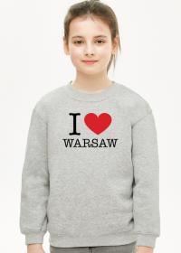 I love Warsaw Kocham Warszawę bluza dziewczęca