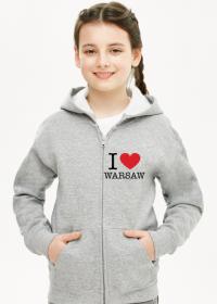 I love Warsaw Kocham Warszawę bluza dziewczęca rozpinana
