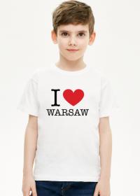 I love Warsaw Kocham Warszawę t-shirt chłopięcy
