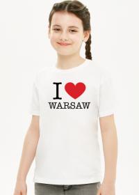 I love Warsaw Kocham Warszawę t-shirt dziewczęcy