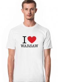 I love Warsaw Kocham Warszawę T-shirt męski