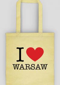 I love Warsaw Kocham Warszawę torba