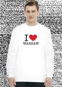 I love Warsaw Kocham Warszawę bluza biała męska