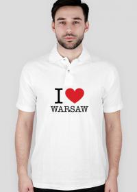 I love Warsaw Kocham Warszawę koszulka polo