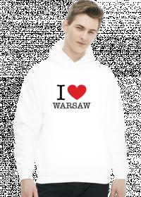 I love Warsaw Kocham Warszawę bluza męska z kapturem