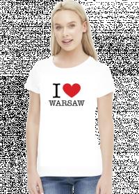 I love Warsaw Kocham Warszawę t-shirt damski