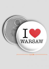 I love Warsaw Kocham Warszawę otwieracz do piwa