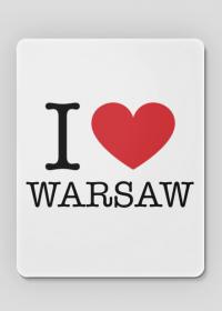 I love Warsaw Kocham Warszawę podkładka pod myszkę