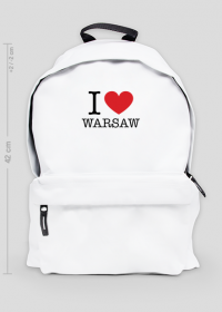 I love Warsaw Kocham Warszawę plecak duży