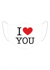I love You Kocham Cię maseczka z nadrukiem