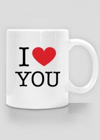 I love You Kocham Cię kubek z nadrukiem