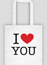 I love You Kocham Cię torba z nadrukiem