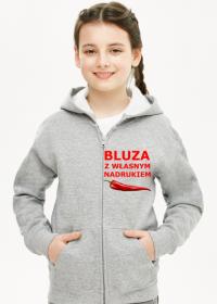 Bluza z własnym nadrukiem rozpinana dziewczęca