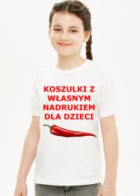 Koszulki z własnym nadrukiem dla dzieci