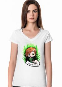 HantickArt koszulka damska z trójkątnym dekoltem
