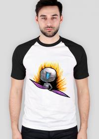 BoboArt koszulka męska dwukolorowa