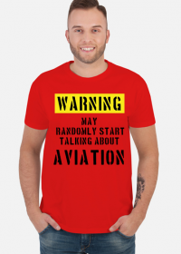 Prezent dla pilota, gadżety lotnicze, koszulka dla pilota. Koszulka z samolotem. Lotnictwo.