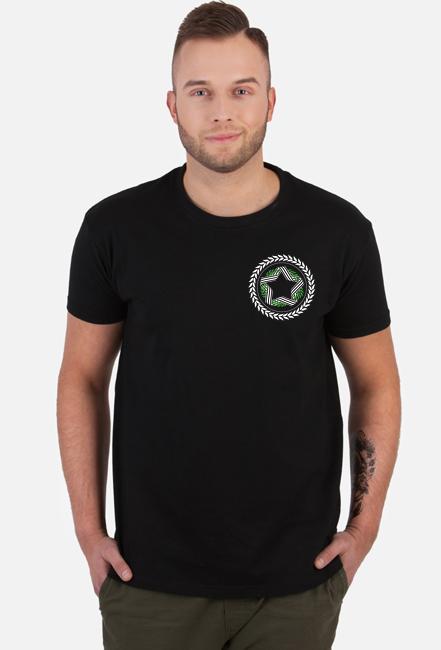 Koszulka Męska Czarna- Białe Godło
