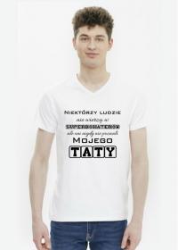 Koszulka męska - Niektórzy ludzie nie wierzą w superbohaterów, ale oni nigdy nie poznali mojego Taty