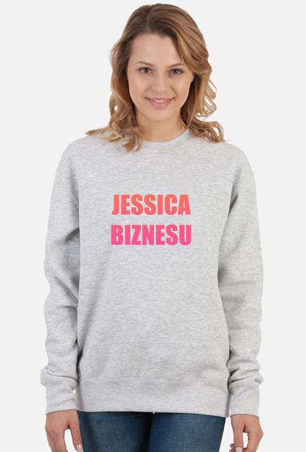 Bluza damska bez kaptura Jessica Biznesu