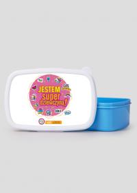 Pudełko śniadaniowe/ lunch box niebieski JESTEM SUPERDZIEWCZYNĄ! KOLOR