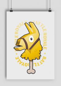 Plakat A1 - Złota Lama Fortnite
