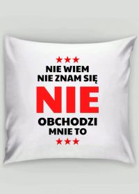 Poszewka na poduszkę Jasia - Nie Wiem, Nie Znam Się...