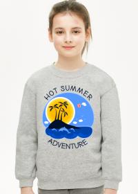 Bluza dziecięca na wakacje i lato - Hot Summer Adventure
