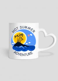 Kubek z sercem na lato i wakacje - Hot Summer Adventure