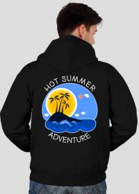 Bluza męska czarna na wakacje i lato - Hot Summer Adventure