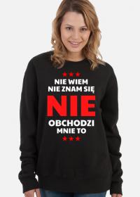 Bluza damska czarna - Nie Wiem, Nie Znam Się...