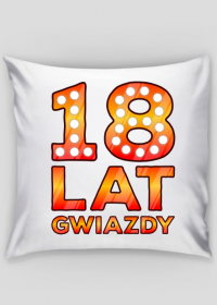 Poszewka na poduszkę Jasia - 18 Lat Gwiazdy