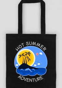 Wakacyjna torba na zakupy czarna - Hot Summer Adventure