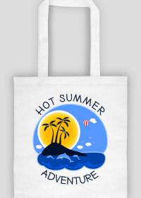 Wakacyjna torba na zakupy biała - Hot Summer Adventure