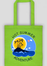 Wakacyjna torba na zakupy zielona - Hot Summer Adventure
