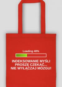 Torba na zakupy czerwona - Indeksowanie Myśli