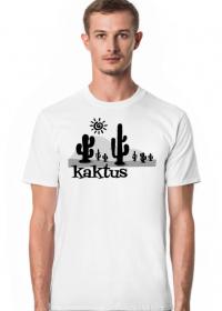 Koszulka męska biała - Kaktus