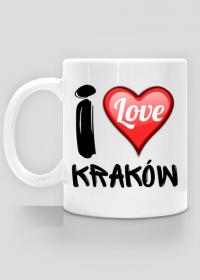 Kubek biały - I Love Kraków