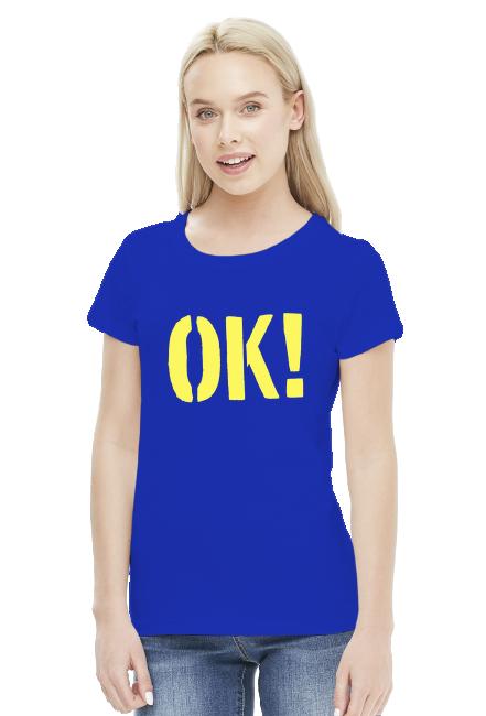 OK! koszulka damska, kolor niebieski