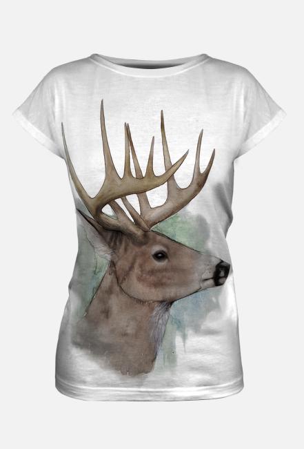 Koszulka damska full print Jeleń