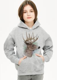 Bluza dziewczęca z kapturem Jeleń