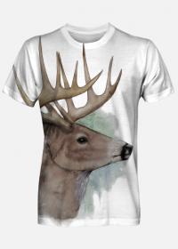 Koszulka męska full print Jeleń