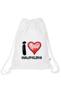 I Love Małopolska - Worek gimnastyczny A3